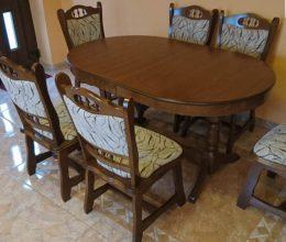 München étkező garnitúra p44 k6 ovális asztal szék román bútor étkezőgarnitúra