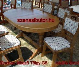 München étkező garnitúra tölgy g5 6 személyes asztal szék román bútor