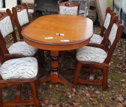 München étkező garnitúra antikolt cseresznye k6 román bútor