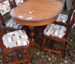 München étkező garnitúra antikolt cseresznye k9 román bútor