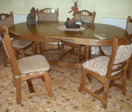 München étkező garnitúra tölgy F10 6 személyes étkezőgarnitúra Európa asztal szék akciós ár román bútor