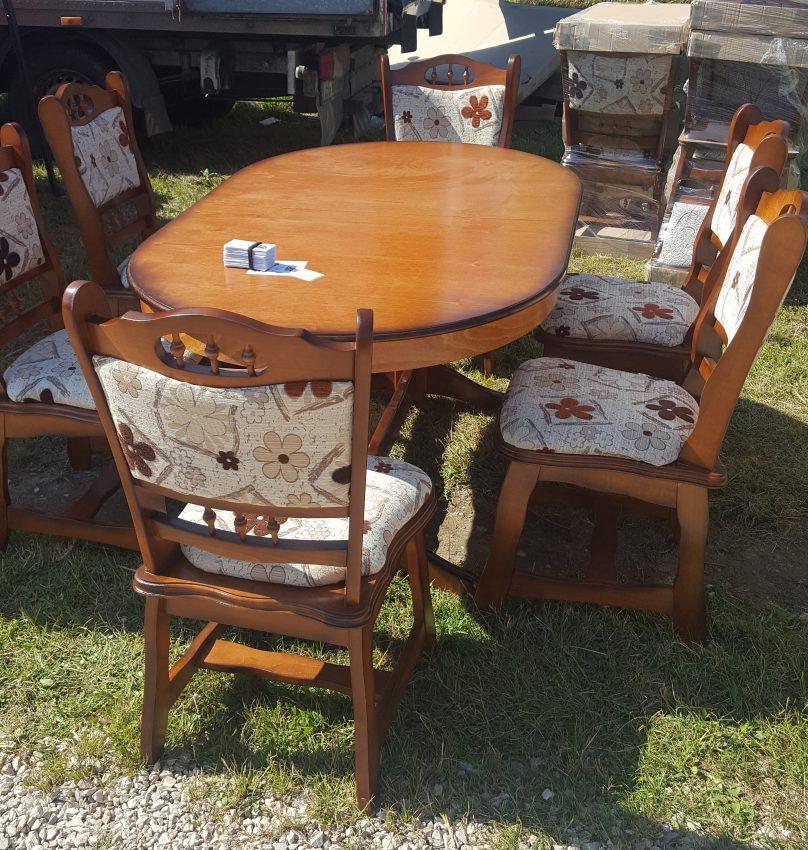 München étkező garnitúra antikolt cseresznye B13 Európa asztal szék akciós ár román bútor
