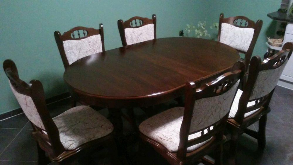 München étkező garnitúra 6 személyes Európa asztal 6 db szék wenge 2072 nádas münchen étkező román bútor