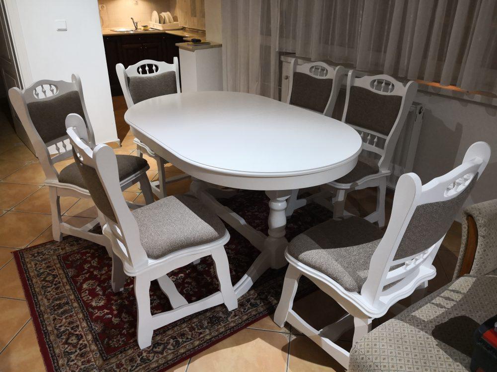 München fehér étkező garnitúra ovális Európa asztal szék